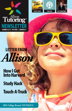 Allison Tutoring Newsletter_Summer 2015
